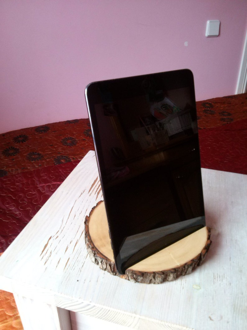 wood Ipad stand,Portable tablet holder laptop trays Handmade aspen wooden tablet holder tablet holder ecofriendly wooden stand