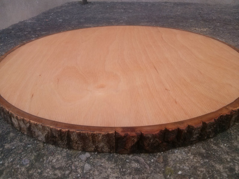 Wooden Tray Cake Large Wooden Coaster Cake Stand Wood Stand Wood Circle 1 Pcs Round Wooden Tree Slice Rustic Table Decor Pad