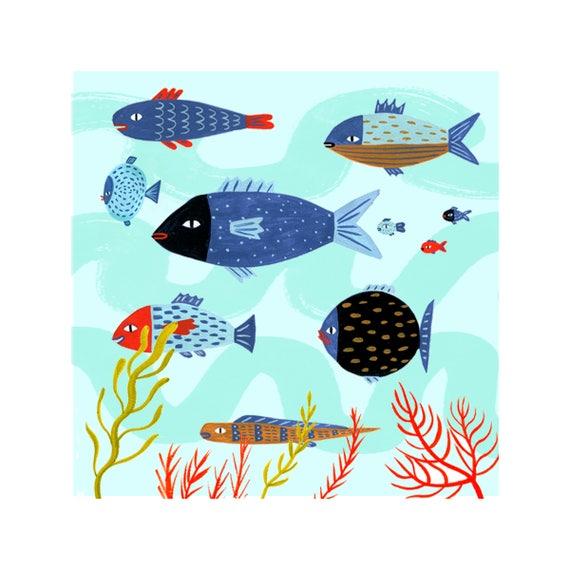 Under The Sea Baby Shower Gift Baby Room Decor Ideas Fish Art Etsy