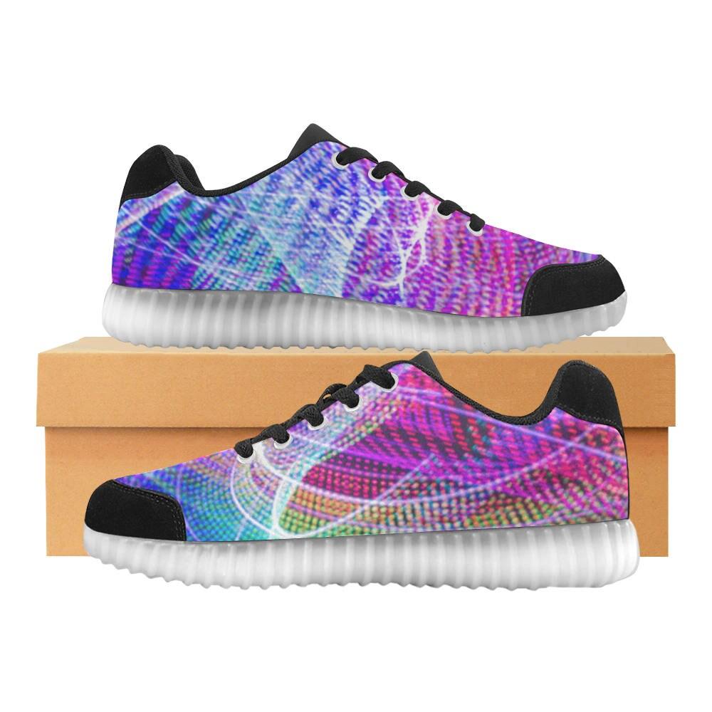 SIZE 7- LED Print Up Light Up Print Shoes 0db97b