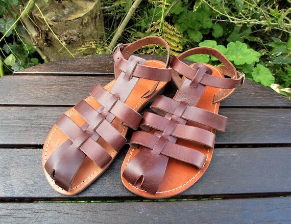 Greek Slippers Size 36  UK4  ladies  wool  leather  pompom