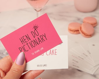 Hen Do Pictionary - Hen party Games - Hen Party Pictionary - hen night game - bachelorette game - bridal shower game - Pictionary