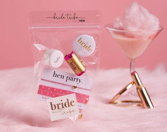 Hen Party Goody Bag Fillers | Hen Party Gift Bag Favours | Gold Hen Party Favours | Hen Night Goody Bag Fillers