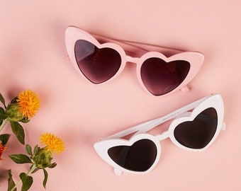 Heart Shaped Sunglasses, Hen Party Sunglasses, Heart Sunnies, Hen Party Sunnies, Bride Sunglasses, Pink Sunglasses, Heart Sunglasses