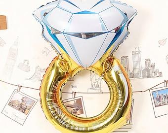 SALE - Diamond Ring Balloon - Hen Party Balloon - Engagement Balloon - Engagement Decoration - Ring Balloon