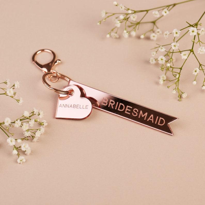Brautjungfern Geschenke, Schlüsselanhänger Brautjungfern