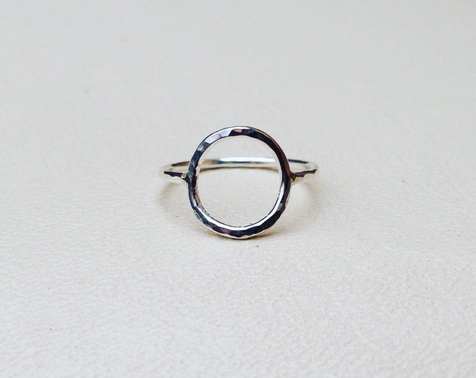 Circle ring Sterling silver handmade