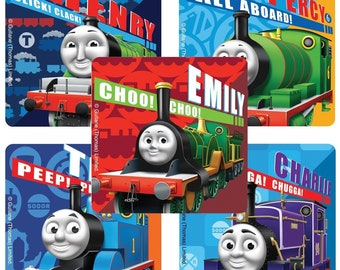 60 Thomas Tank Engine Train mini dot Stickers Party Favor Teacher Supply