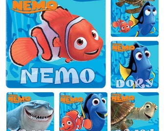 Merit Favours-Birthday Loot Bags-Teachers Glitter Finding Nemo Stickers x 5