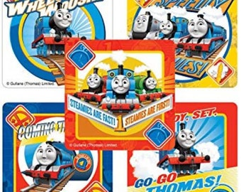 54 peice Train SHEET THOMAS STICKERS Card Making Party Favour Decoration