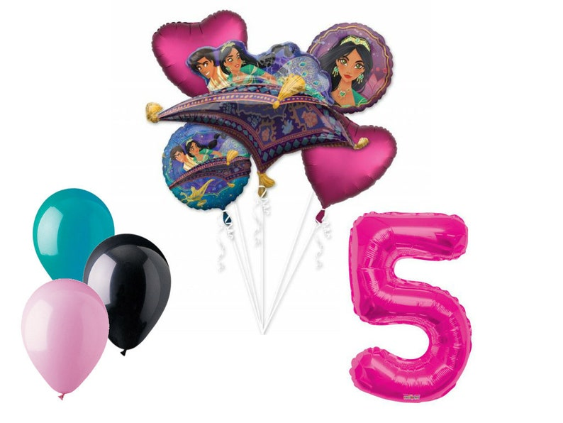 Aladdin Balloon Bouquet 5th Birthday Party Supplies Decoration Balloons Jasmine