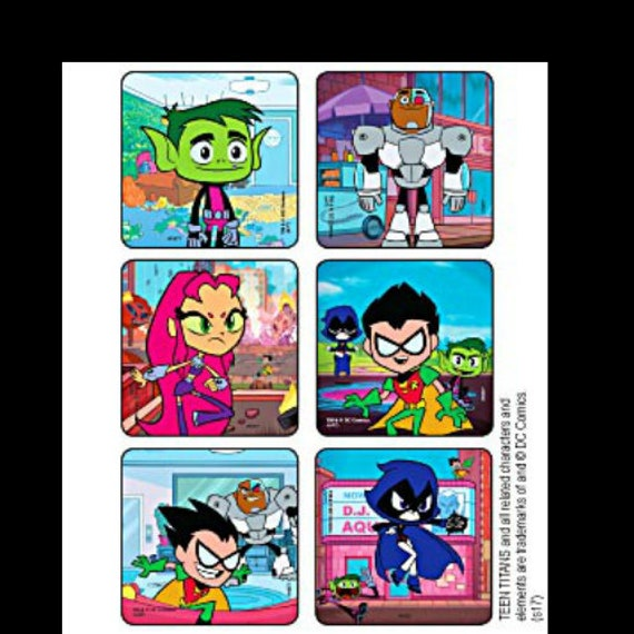 20 Teen Titans Go to the Movie  Stickers Party Favors teacher rewards