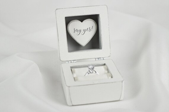 Valentines Marry Me Gift for Her Glass Engagement Box for Silver White Gold Proposal Box with Love You Engraving Rose Gold Golden Ring
