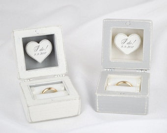 Set of 2 Ring Boxes, Mr and Mrs Wedding Ring Boxes, His and Hers Ring Boxes, Ring Bearer Box