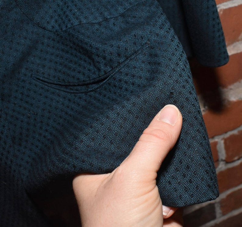 1930\u2019s Blazer Stunning Green Wool Dramatic Collar Beautiful Vintage Blazer