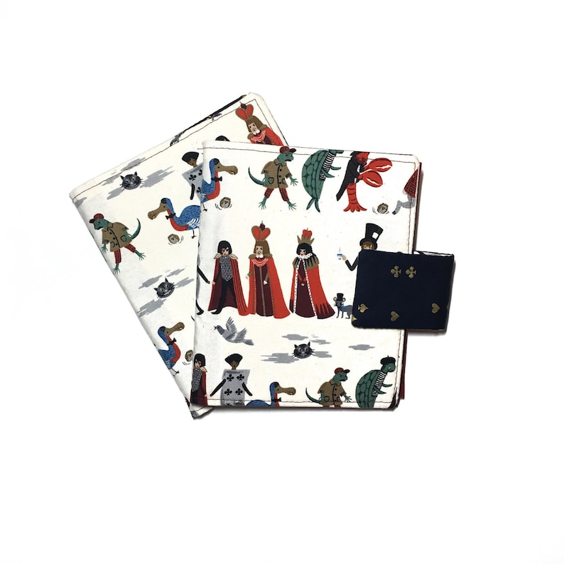 Alice in Wonderland Rifle Paper Co Pin Book for Enamel Trading Pins Buttons  Earrings Pinbook