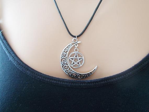 colgante de pent/áculo collar de estrella de cinco puntas de Pagan Collar de pentagrama esot/érico
