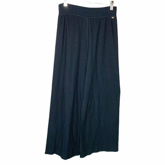 Sonia Rykiel Paris Wide Leg Knit Lounge Pants Siz… - image 1