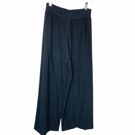 Sonia Rykiel Paris Wide Leg Knit Lounge Pants Siz… - image 5