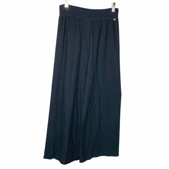 Sonia Rykiel Paris Wide Leg Knit Lounge Pants Siz… - image 9