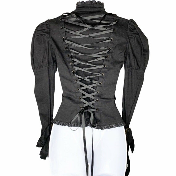 Spin Doctor Corset Cosplay Steampunk Black Lace U… - image 3
