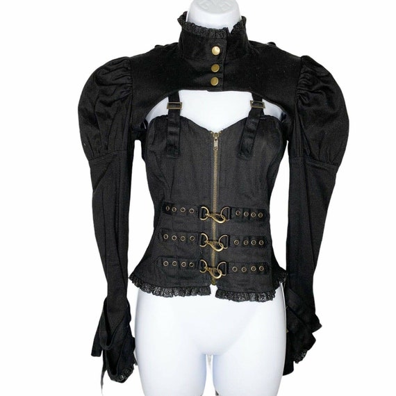 Spin Doctor Corset Cosplay Steampunk Black Lace U… - image 2