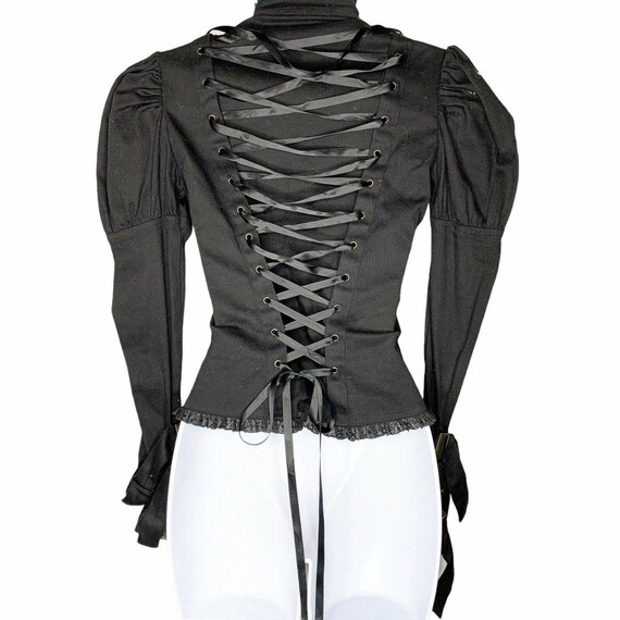Spin Doctor Corset Cosplay Steampunk Black Lace U… - image 4