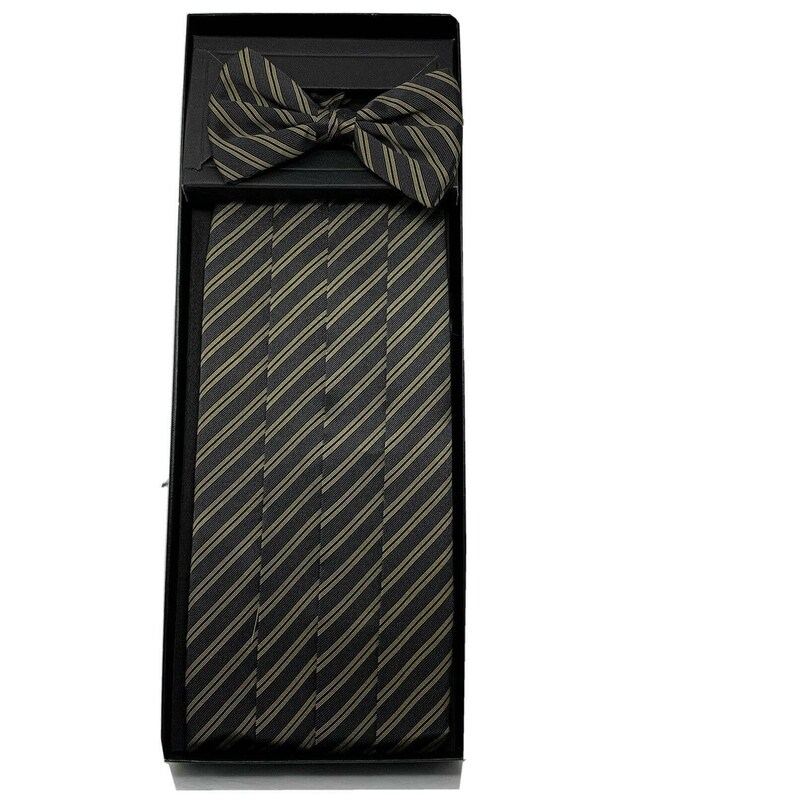 Vintage BILL BLASS Men's silk Cummerbund Bow Tie Set made image 0
