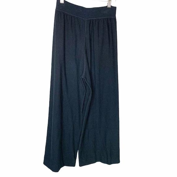 Sonia Rykiel Paris Wide Leg Knit Lounge Pants Siz… - image 4