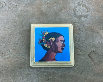 Crowned With Flowers wood mounted print ready to hang mini print