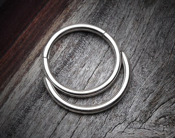 Classic Double Loop Accent Clicker Hoop Ring