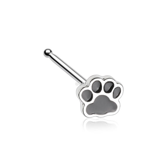 Adorable Paw Print Nose Stud Ring Etsy
