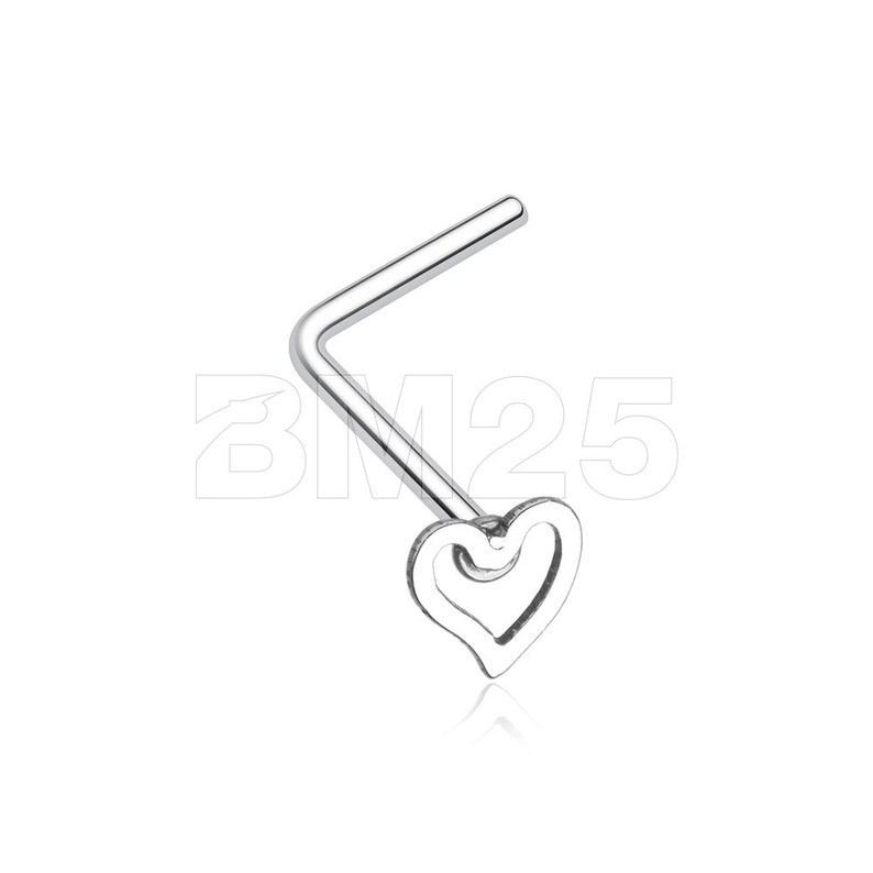 c468fe6fea7d Dainty Heart Icon L-Shaped Nose Ring