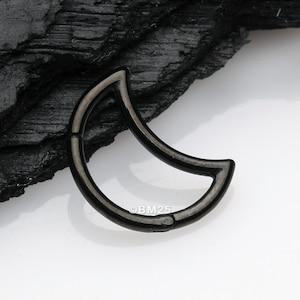 Aurea Teardrop Vintage Seamless Clicker Hoop Ring