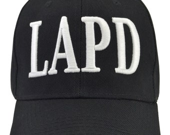 LAPD embroidered black hat fully adjustable and Free Shipping cbd6a12511ab