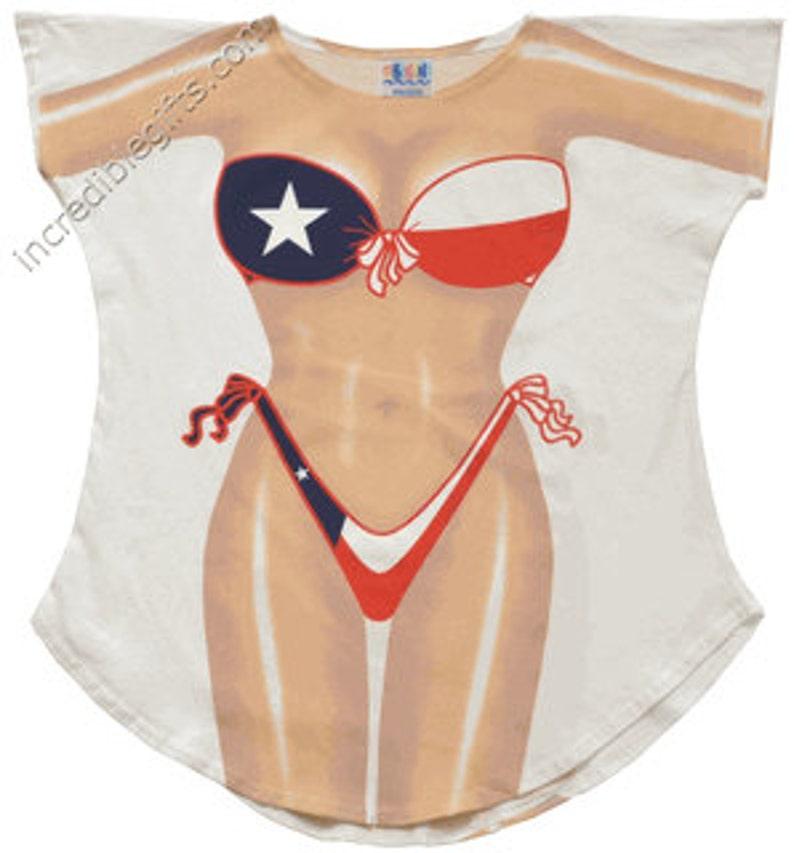 9ff30117db Texas Bikini Cover-Up T-Shirt | Etsy