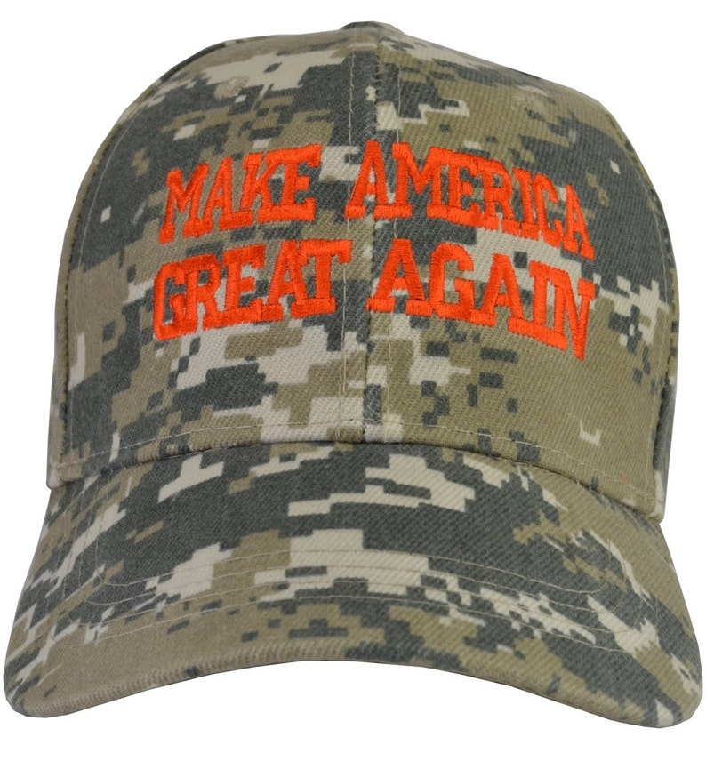 38395d64f Make America Great Again, Trump Desert hat embroidered, adjustable The  Donald Free Shipping