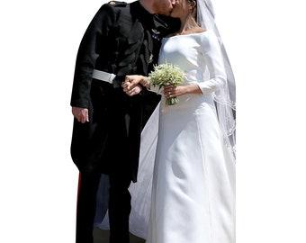 Prince Harry and Princess Meghan Wedding Life Size Cardboard Cutout FreeSHipping