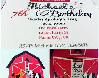 Barn Style Invitation - Farm Theme (25pcs)