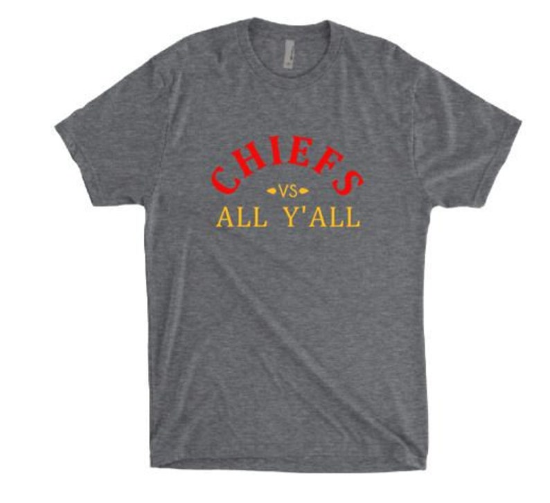 official photos 97c9e 087df Kansas City shirt, Chiefs Shirt, Kansas City Chiefs, Chiefs Kingdom; Texas  Tech Red Raiders; Gray T Shirt; Chiefs vs All Y'all; KC