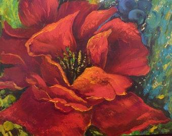 Poppy Painting Etsy