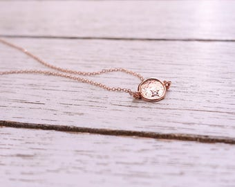 Rose Gold Necklace + Rose Gold Disc Necklace + Sideways Necklace + Coin Necklace + Hammered Disc Necklace + CZ necklace + Delicate Necklace