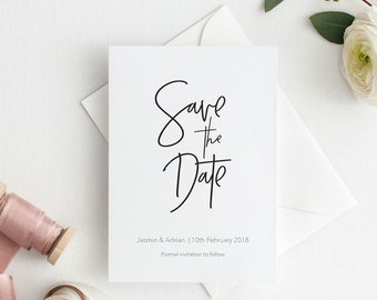 Wedding Save the Date Printable | Modern Save the Dates for Wedding Announcement | Digital Save the Date Card | Signature Collection | PDF