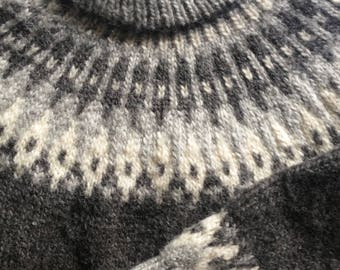 Vintage Icelandic Wool Sweater Ultra Thick
