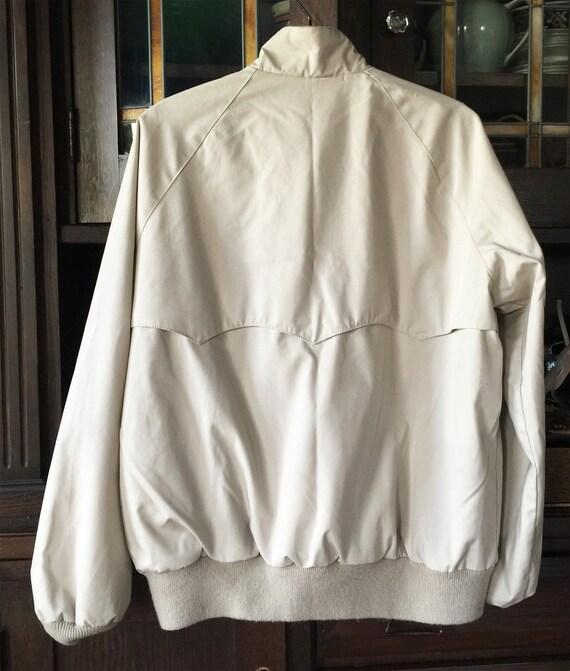 1970s Tan Poplin Jacket Cotton Flannel Lining Mint - image 4