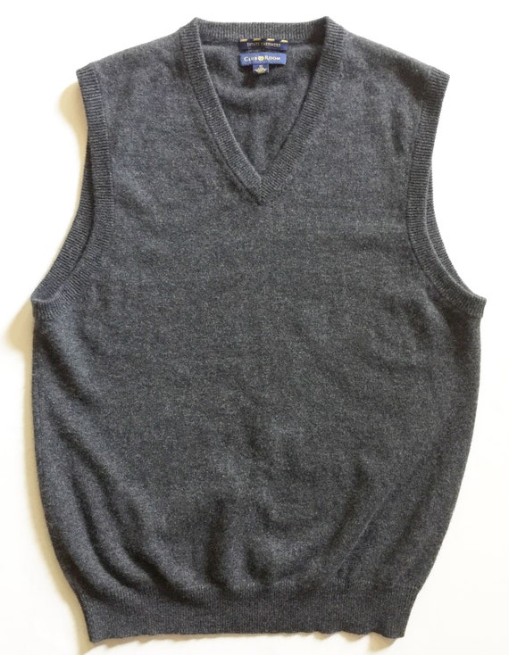 Charcoal Grey Cashmere Sweater Vest