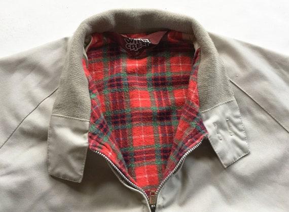 1970s Tan Poplin Jacket Cotton Flannel Lining Mint - image 5