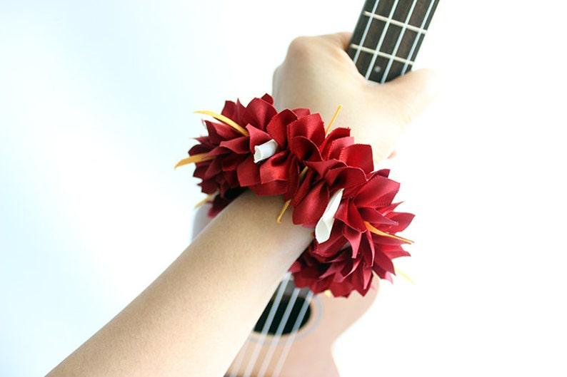 ukulele accessories,ukulele,ribbon lei,ukulele strap,ukulele bag,ukulele case,concert ukulele,hawaiian wedding,tropical,red bougainvillea