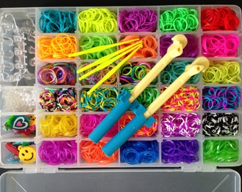 Rainbow Loom Yellow /& Pink Two-Tone Rubber Bands Refill Pack 300 ct