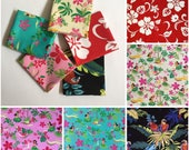 FREE SHIPPING 5pcs 18 quot X30 quot Hawaii Flower Cotton Fabric Kids-Clothes Bags Patchwork Quilt F18-2